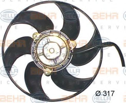 Вентилятор, охлаждение двигателя HELLA 8EW351044151