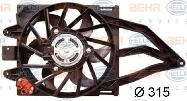 Вентилятор охлаждения двигателя HELLA 8EW 351 044-401