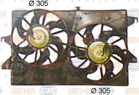 Вентилятор, охлаждение двигателя HELLA 8EW351044441