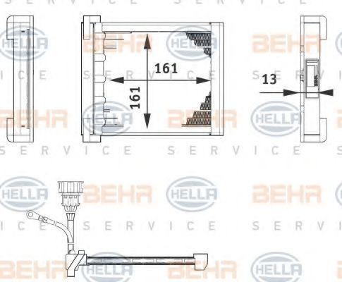Теплообменник, отопление салона HELLA 6ZT351080211