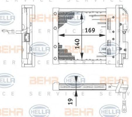 Теплообменник, отопление салона HELLA 6ZT351080221