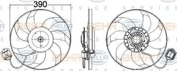 Вентилятор охлаждения двигателя HELLA 8EW 351 104-471