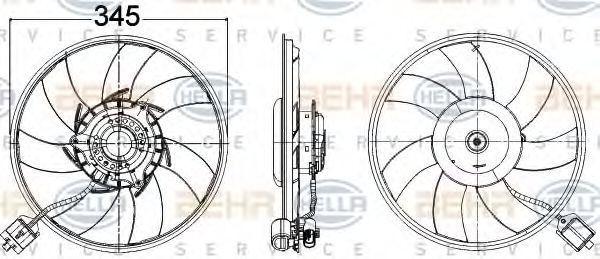 Вентилятор охлаждения двигателя HELLA 8EW 351 104-491