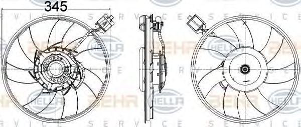 Вентилятор охлаждения двигателя HELLA 8EW 351 104-531