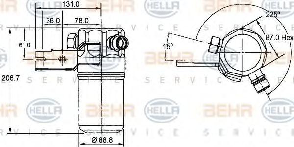 Осушитель кондиционера HELLA 8FT 351 192-391