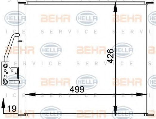Радиатор кондиционера HELLA 8FC 351 300-001