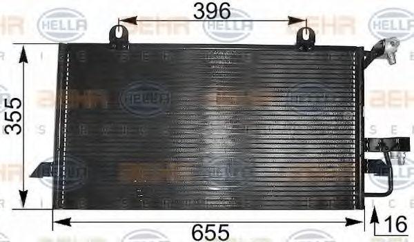 Радиатор кондиционера HELLA 8FC 351 300-021