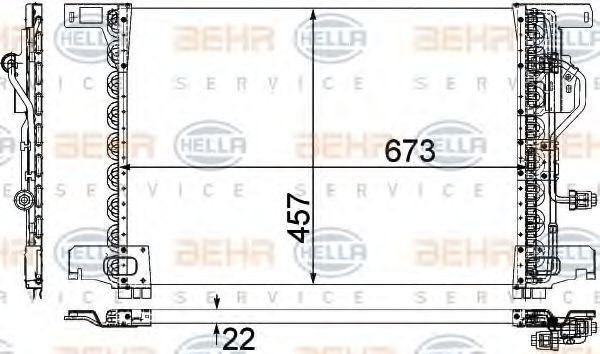 Радиатор кондиционера HELLA 8FC351300131