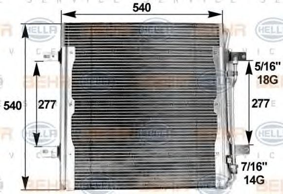 Радиатор кондиционера HELLA 8FC 351 300-141