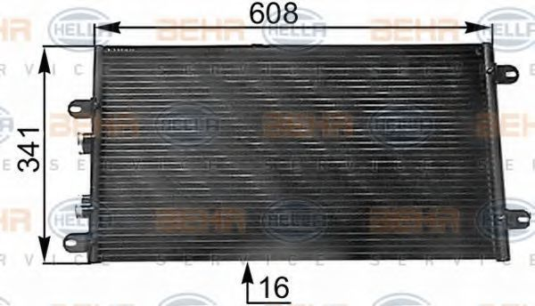 Конденсор кондиционера HELLA 8FC351300531