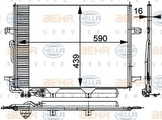 Радиатор кондиционера HELLA 8FC351300711