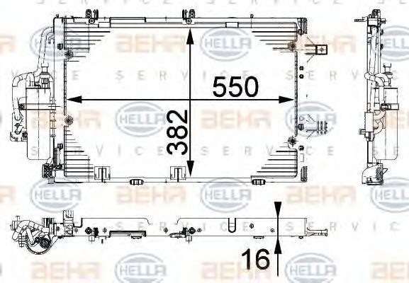 Радиатор кондиционера HELLA 8FC 351 301-194