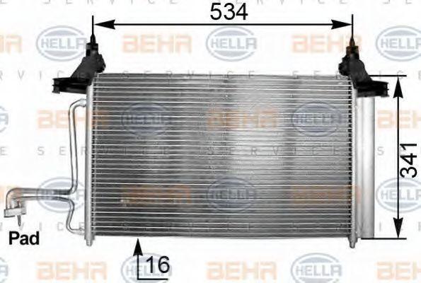 Радиатор кондиционера HELLA 8FC 351 301-211