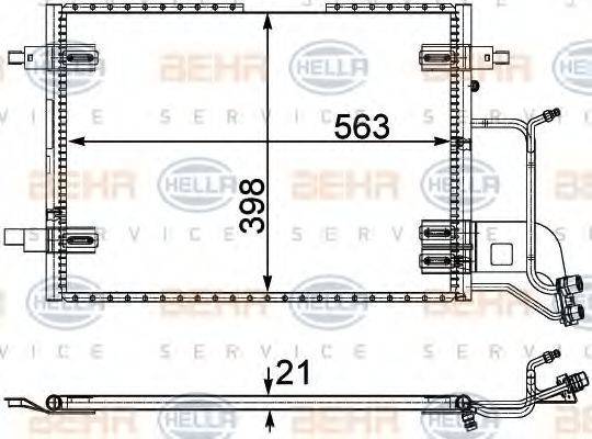 Радиатор кондиционера HELLA 8FC351301401