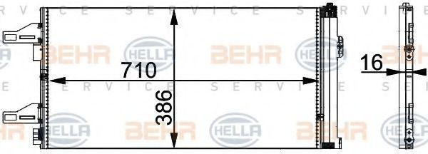 Конденсор кондиционера HELLA 8FC351301601