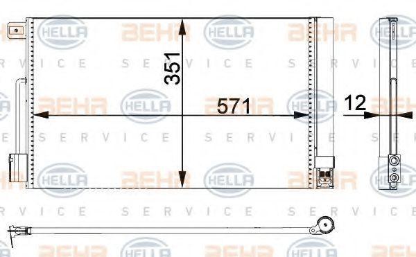 Радиатор кондиционера HELLA 8FC 351 301-651
