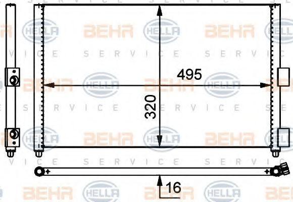 Радиатор кондиционера HELLA 8FC351301701