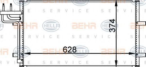 Радиатор кондиционера HELLA 8FC351301731