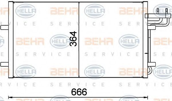 Конденсор кондиционера HELLA 8FC351301734