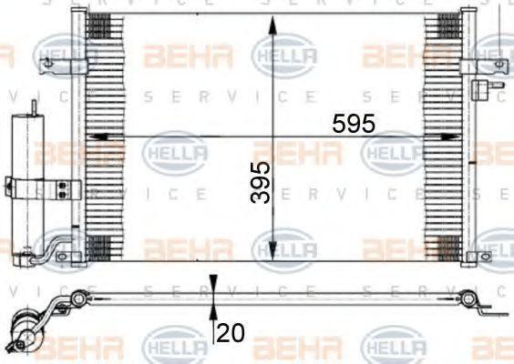 Радиатор кондиционера HELLA 8FC351302191