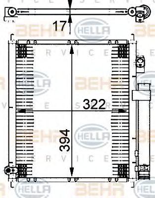Радиатор кондиционера HELLA 8FC 351 302-221