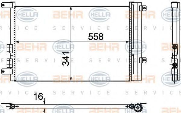 Конденсатор, кондиционер HELLA 8FC351302391