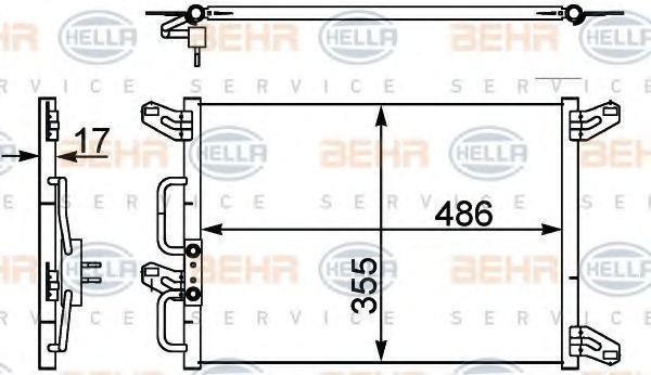 Радиатор кондиционера HELLA 8FC 351 302-411