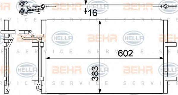 Конденсор кондиционера HELLA 8FC351302571
