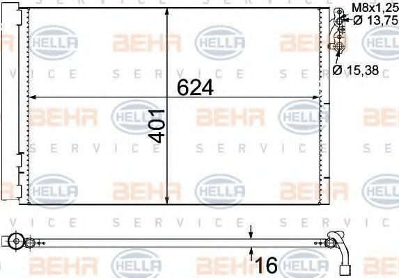 Радиатор кондиционера HELLA 8FC 351 302-611