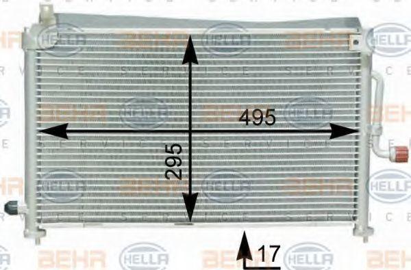 Конденсор кондиционера HELLA 8FC351302641