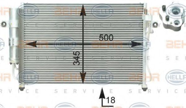 Конденсор кондиционера HELLA 8FC351302651