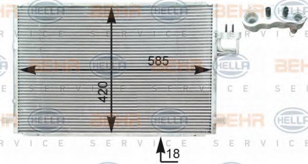 Радиатор кондиционера HELLA 8FC 351 303-001