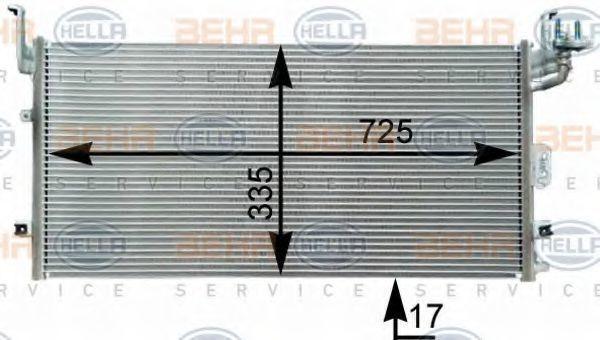 Конденсатор, кондиционер HELLA 8FC351303071