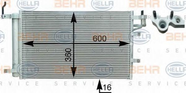 Радиатор кондиционера HELLA 8FC 351 303-081