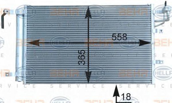Радиатор кондиционера HELLA 8FC351303091