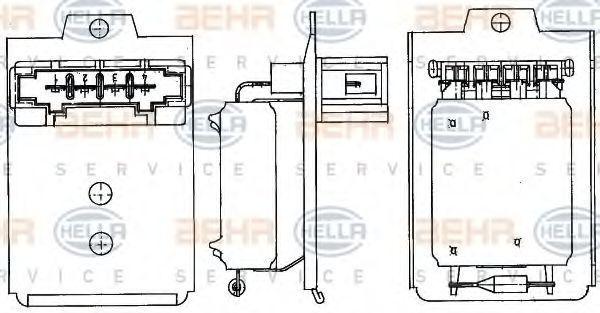 Резистор вентилятора отопителя HELLA 9ML 351 303-261