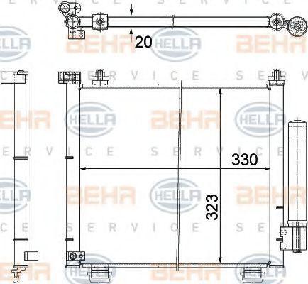 Радиатор кондиционера HELLA 8FC 351 303-471