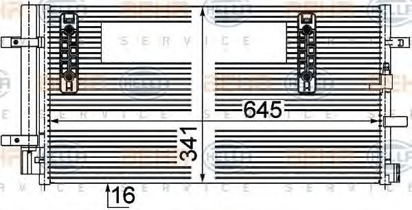 Конденсор кондиционера HELLA 8FC351303501