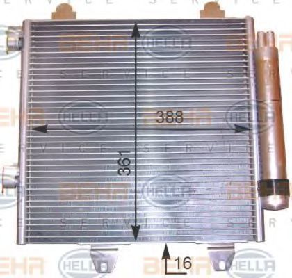 Конденсатор, кондиционер HELLA 8FC351303531