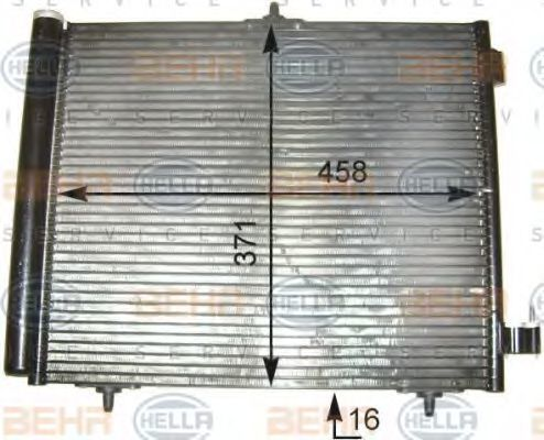 Радиатор кондиционера HELLA 8FC 351 303-541