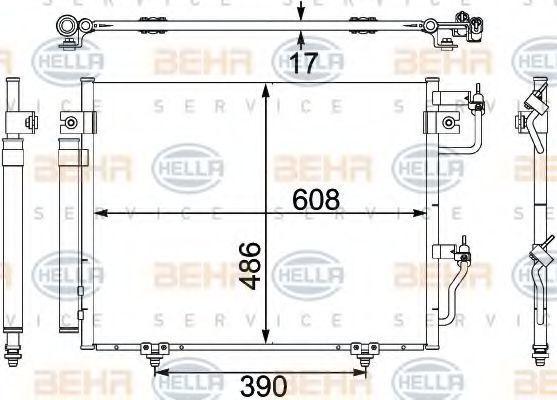 Радиатор кондиционера HELLA 8FC 351 304-081