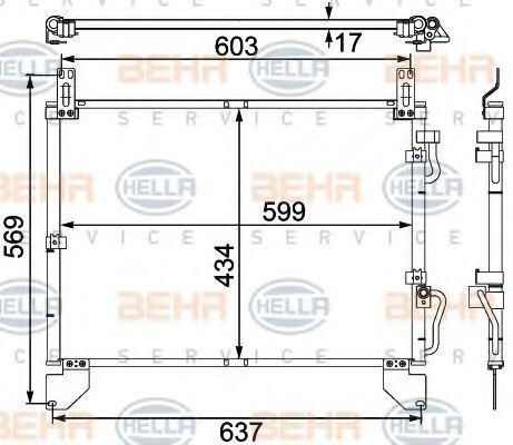 Радиатор кондиционера HELLA 8FC 351 304-151
