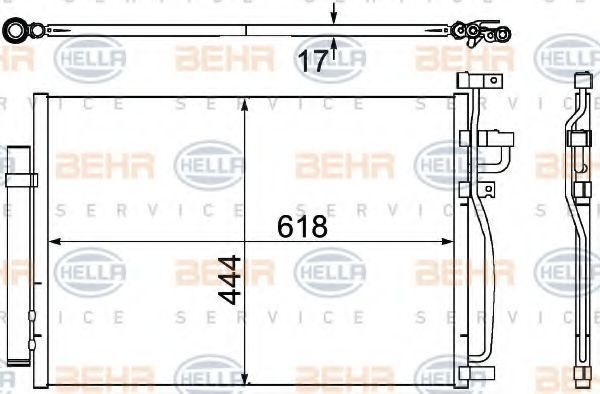 Радиатор кондиционера HELLA 8FC 351 304-311