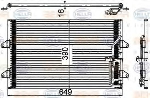 Конденсатор, кондиционер HELLA 8FC351304541