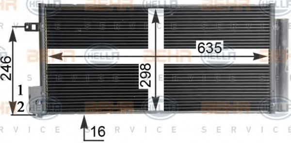 Радиатор кондиционера HELLA 8FC 351 304-724