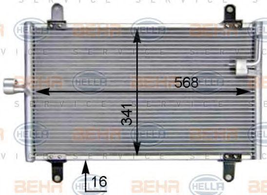 Радиатор кондиционера HELLA 8FC351305211