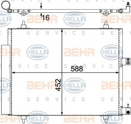 Радиатор кондиционера HELLA 8FC 351 305-221