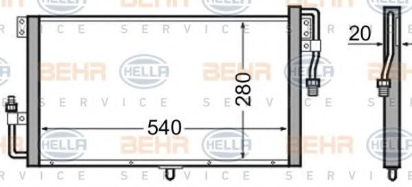Конденсатор, кондиционер HELLA 8FC351306401