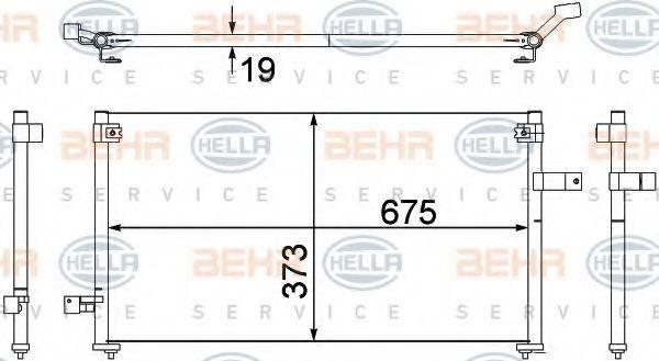 Конденсор кондиционера HELLA 8FC351307381