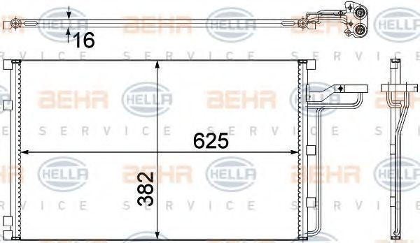 Радиатор кондиционера HELLA 8FC 351 307-621